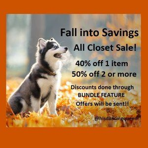 40% OFF 1 item  50% OFF 2 or more items